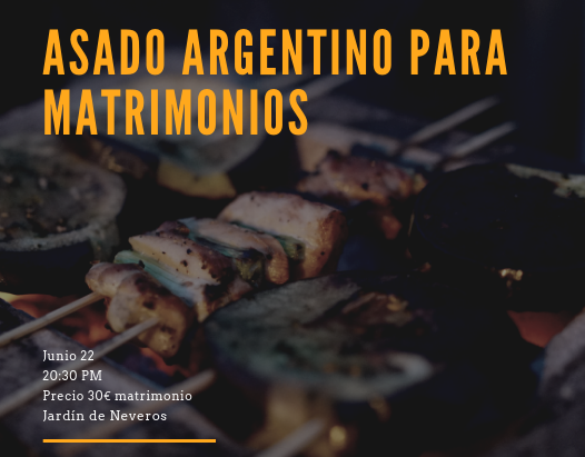 Asado Argentino para matrimonios